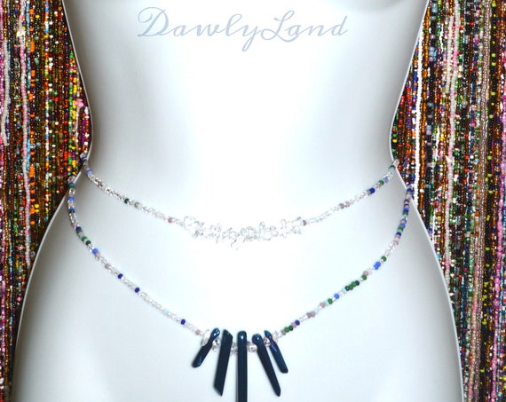 Ice Princess ~ Double Quartz Waist Beads & Choker Set ~ Elite One of a Kind