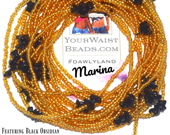 Marina ~ Gemstone Waist Beads & More ~ with Black Obsidian
