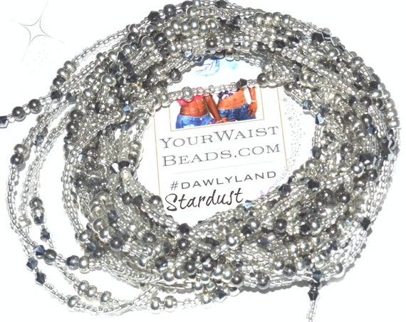 Waist Beads &More ~ Stardust ~ Bracelet Anklet or #Beadkini featuring Metal Accents