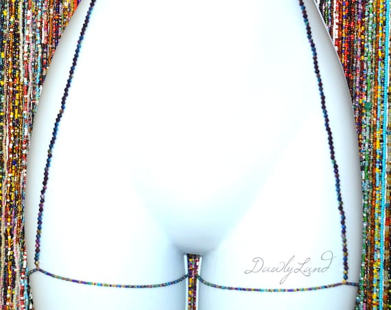 Bollywood Siren ~ Custom Fit Waist Bead Garter Deluxe