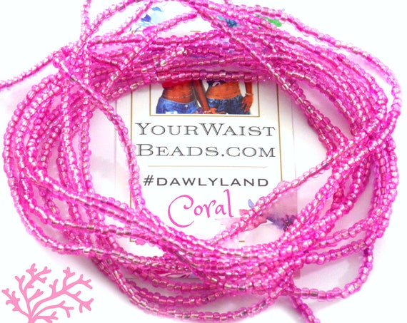 Waist Beads & More ~ Coral ~ Bracelet Anklet or #Beadkini