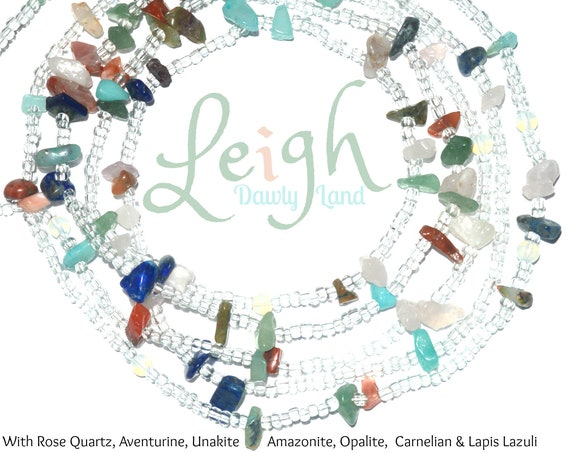 Leigh ~ Custom Fit Waist Beads & MegaWraps with Mixed Gemstones