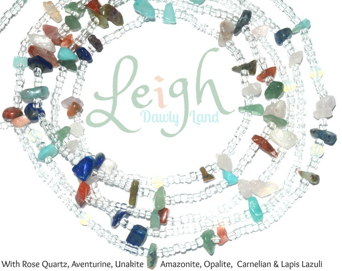 Leigh ~ Custom Fit Waist Beads with Mixed Gemstones