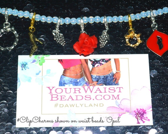 Select ClipCharm Set 8pc + FREE Necklace! Clip to Anything! Waist Beads Hair Jewelry & More
