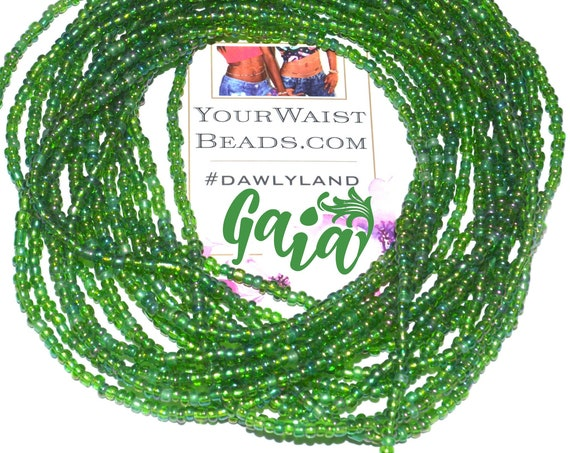 Gaia ~ Green Custom Fit Waist Beads