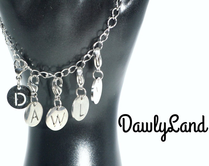 Stainless Steel Alphabet ClipCharms Set ~ Charm Bracelet or Waist Beads add on, Lock Jewelry & More