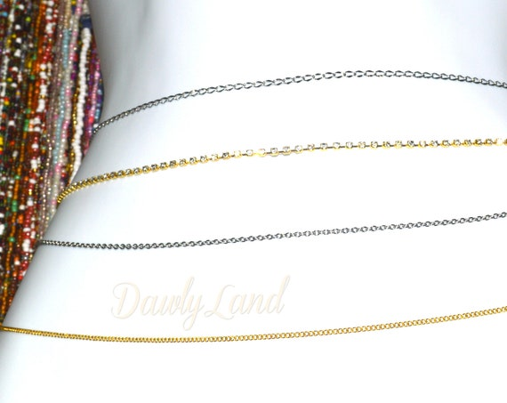 Custom Fit Waist Chains ~ Stainless Steel, Rhinestone, Golden