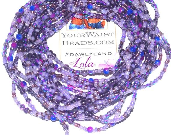 Purple Waist Beads & More ~ Lola ~ Anklet Bracelet or Beadkini
