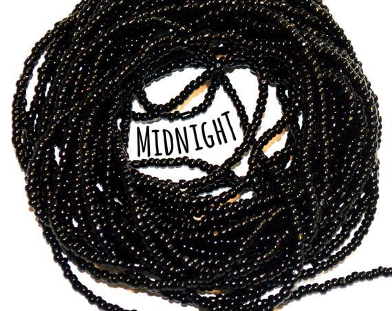 Black Waist Beads &more ~ Midnight ~ YourWaistBeads.com