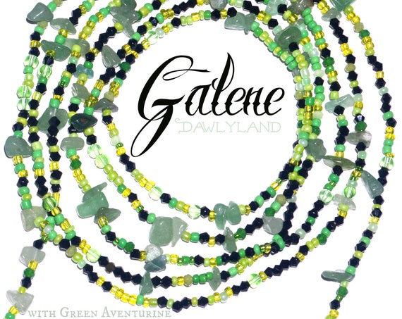 Galene ~ Custom Fit Waist Beads & Mega Wraps with Amazonite