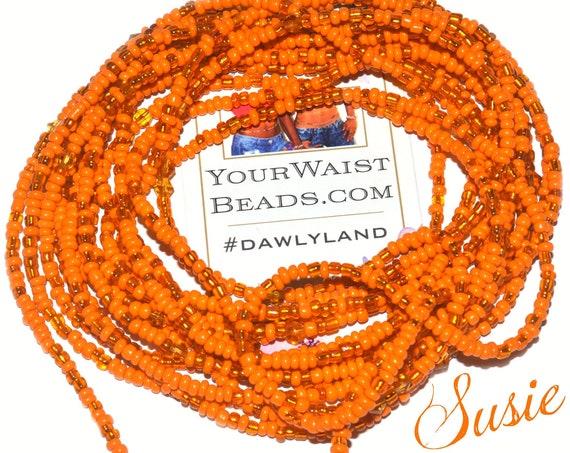 Orange Waist Beads & More ~ Susie ~ Anklet Bracelet or Beadkini