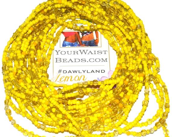 Yellow Waist Beads & More ~ Lemon ~ Anklet Bracelet or Beadkini