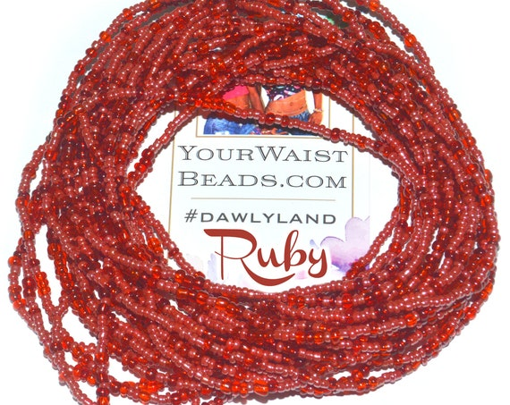 Ruby Red Custom Fit Waist Beads