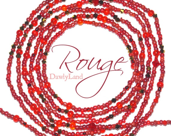Rouge ~ Custom Fit Waist Beads & Mega Wraps
