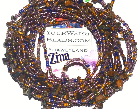 Waist Beads & More ~ ZINA ~ featuring Tigers Eye, Jasper ~ Bracelet Anklet or #Beadkini
