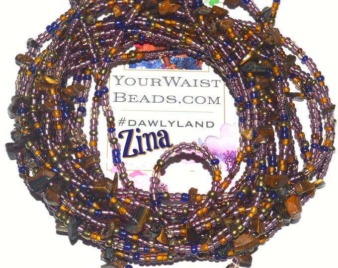 ZINA ~ Gemstone Waist Beads & More featuring Tigers Eye ~ LAST ONE