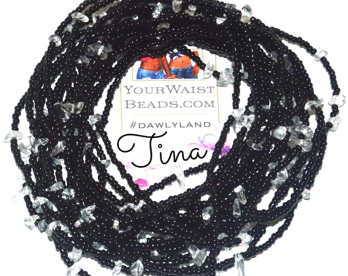 Tina ~ Gemstone Waist Beads & More ~ with Clear Quartz