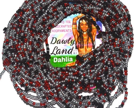 Dahlia ~ Black Obsidian Custom Fit Waist Beads
