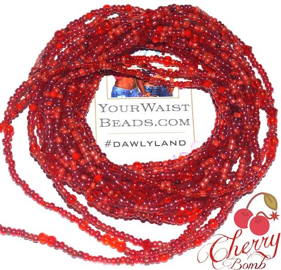 Red Waist Beads & More ~ Cherry Bomb ~ Anklet Bracelet or Beadkini