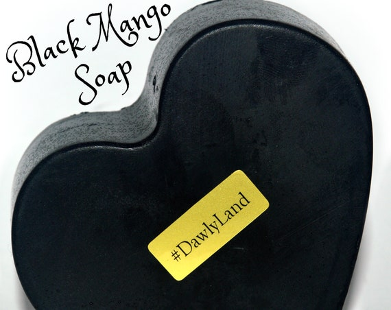 Handmade Black Mango Soap with Activated Charcoal