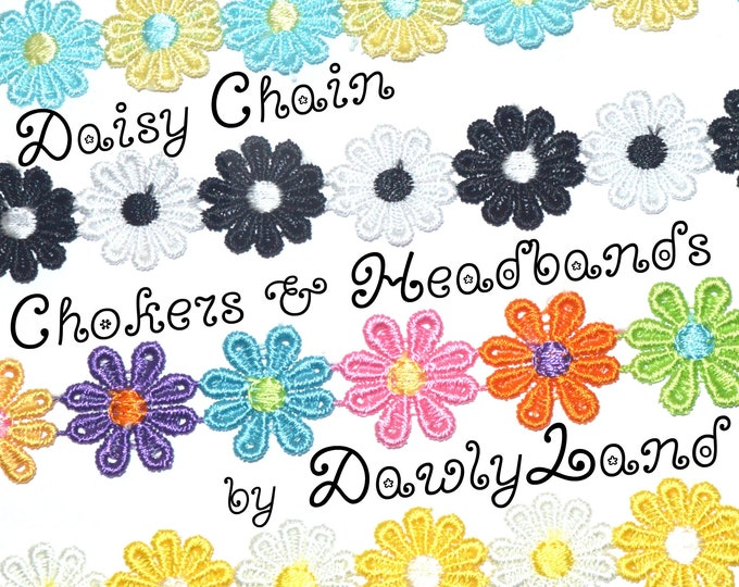 Daisy Chain Chokers / Headbands ~ with Clasp or Tie closure