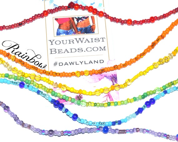 Rainbow Waist Beads & More ~ Six Strand Special Collection