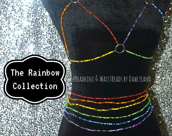 Rainbow Collection Waist Beads & More ~ Six Strand Special