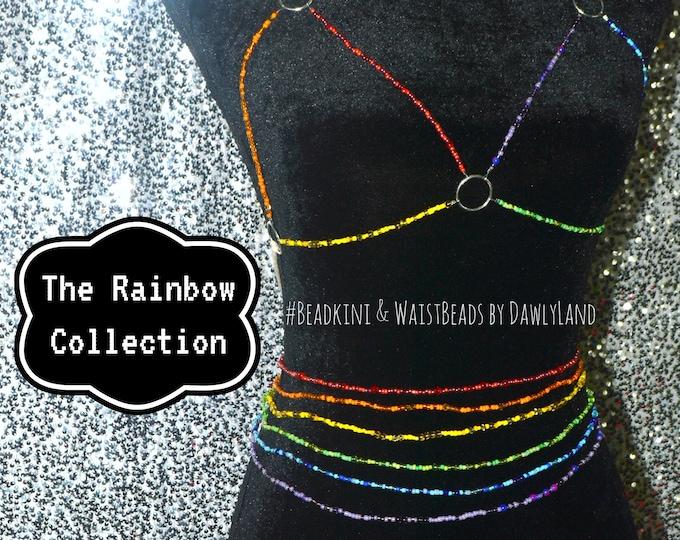 Rainbow Special Waist Beads & Beadkini Set ~ Six Strand Collection
