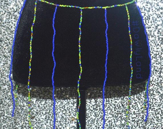 Gemstone Waist Bead Skirt (fringe) with Quartz Stones OSFA