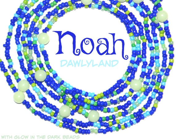 Noah ~ Custom Fit Waist Beads & Mega Wraps with Glow in the Dark Beads