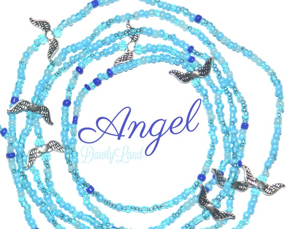 Angel ~ Custom Fit Waist Beads & Mega Wraps with Metal Wing Accents