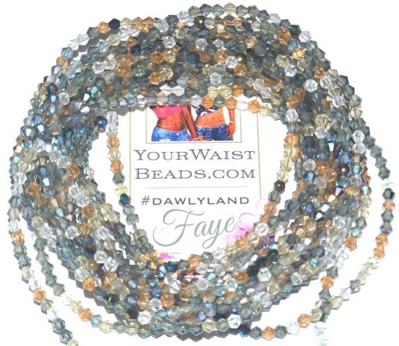 Crystal Waist Beads ~ Faye ~ Anklet Bracelet or #Beadkini