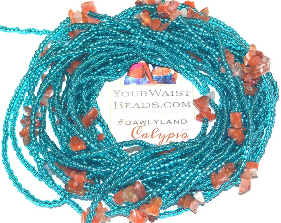 Calypso WaistBeads &More~ with Carnelian ~Bracelet Anklet or #Beadkini