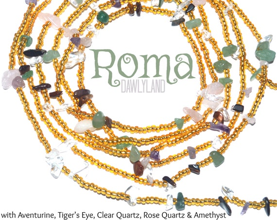 Roma ~ Custom Fit Waist Beads & Mega Wraps with Mixed Gemstones