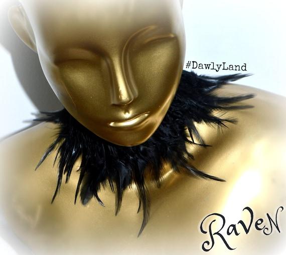 Raven ~ Black Feather Choker