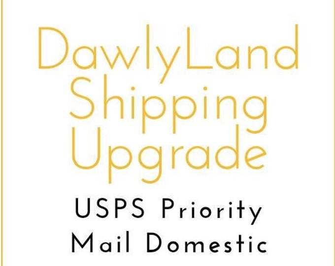 Shipping Upgrade to Priority Mail ~ Domestic
