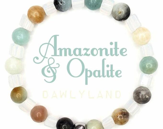 Amazonite & Opalite • Premium Gemstone Bracelet