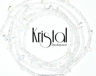 Kristal • Premium Waist Beads • with Opalite