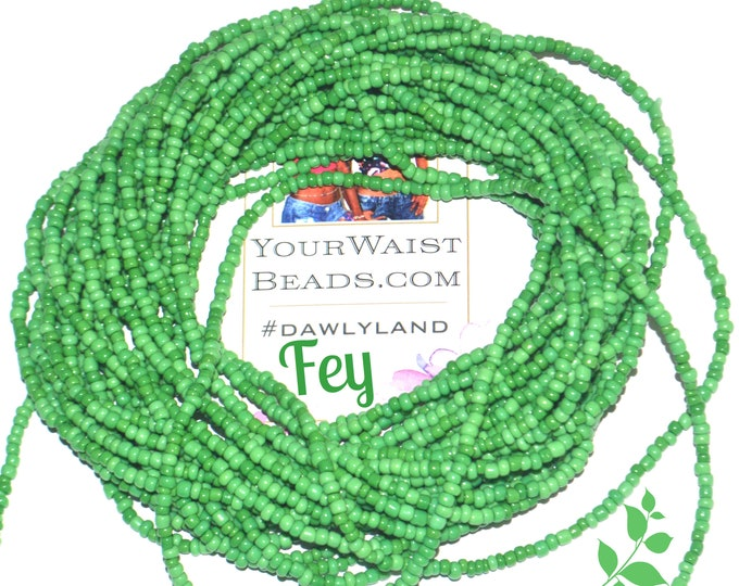Fey ~ Green Custom Waist Beads & More
