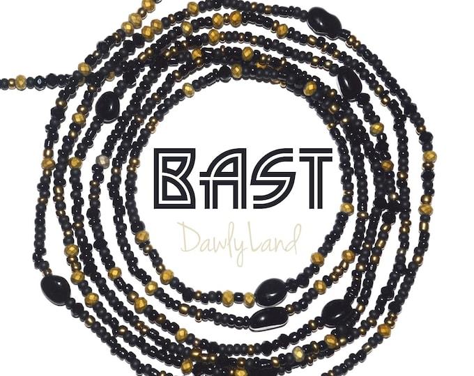 Bast • Premium Waist Beads • with Tourmaline