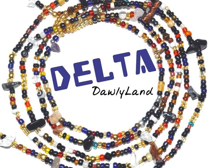 Delta • Premium Waist Beads • with Mixed Gemstones