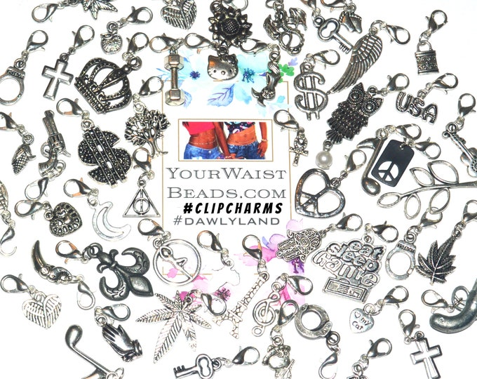 Single ClipCharms ~ for Waist Beads Jewelry Dreads Charm Bracelet and more!
