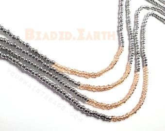 Tasha • Waist Beads & More • Rose Gold and Silver