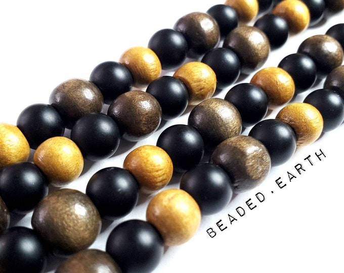 Cheyenne • Large Bead Mix • Agate & Wood