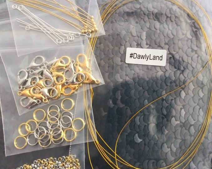 Jewelry Making Starter Kit by DawlyLand ~ Beading Wire & Findings