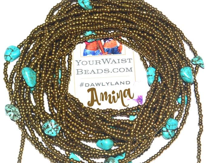 Amina ~ Gemstone Waist Beads & More ~ with Turquoise