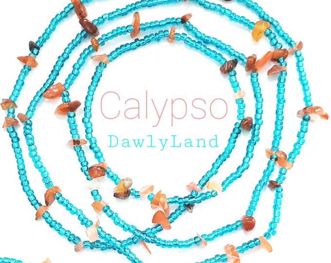 Calypso ~ Waist Beads with Carnelian