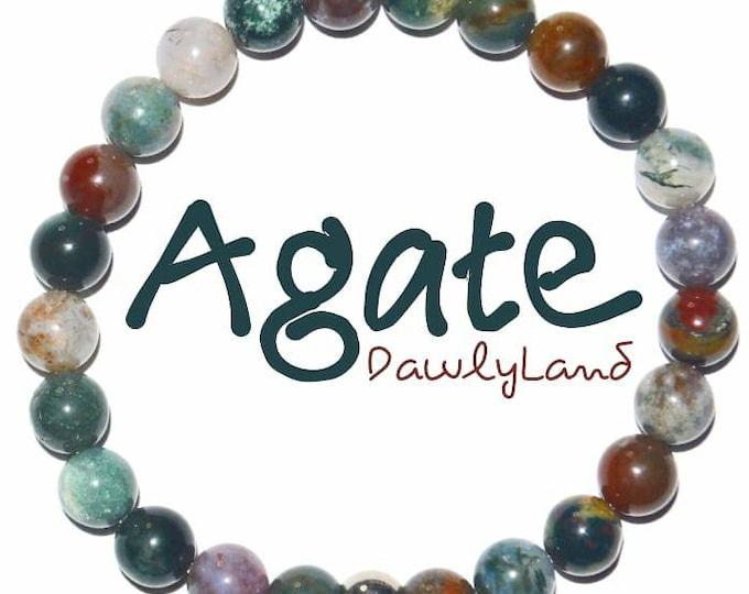 Agate • Premium Gemstone Bracelet