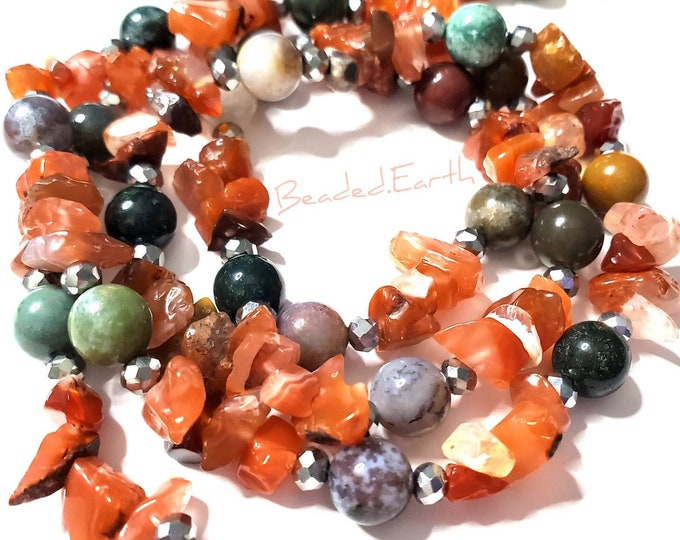April • Carnelian Agate • Waist Beads & More