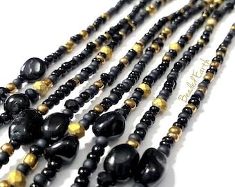 Bast • Black Tourmaline Waist Beads & More